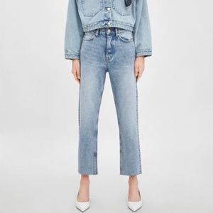 Zara High rise mom jeans